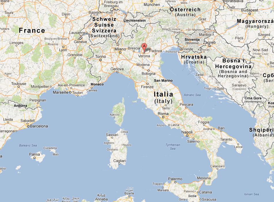verona italien karte Verona Karte verona italien karte