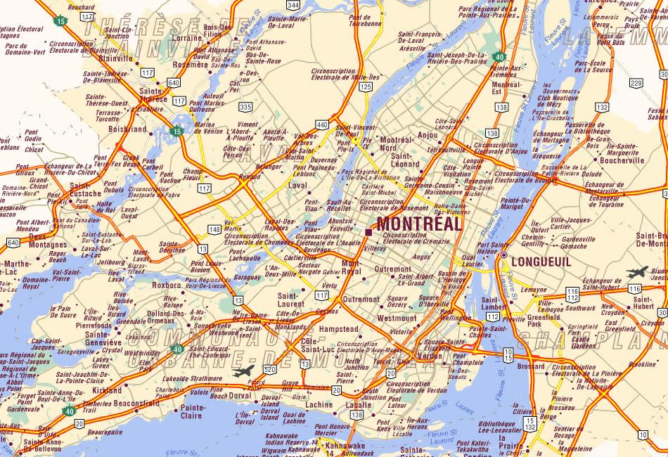 montreal karte Montreal Karte montreal karte